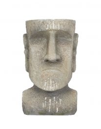 22cm Resin Small Easter Island Head Planter by La Hacienda