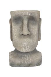 26cm Resin Medium Easter Island Head Planter by La Hacienda
