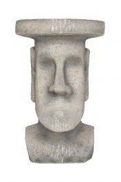 52cm Resin Easter Island Head Planter Stand by La Hacienda