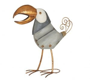 39cm Copper Toucan Garden Ornament by La Hacienda