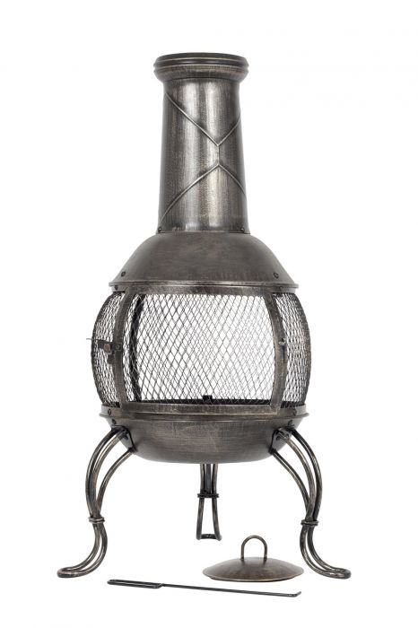 90cm Steel Leon Medium Chimenea by La Hacienda