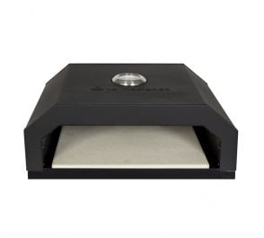 Black Coated Steel BBQ Pizza Oven by La Hacienda