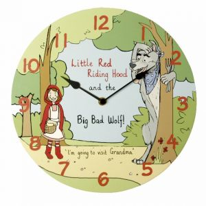 Little Red Riding Hood High Shine Indoor Wall Clock