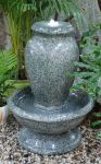Green Glazed Granite Effect Urn Water Feature