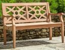4ft Mahogany Heritage Garden Bench by Alexander Rose