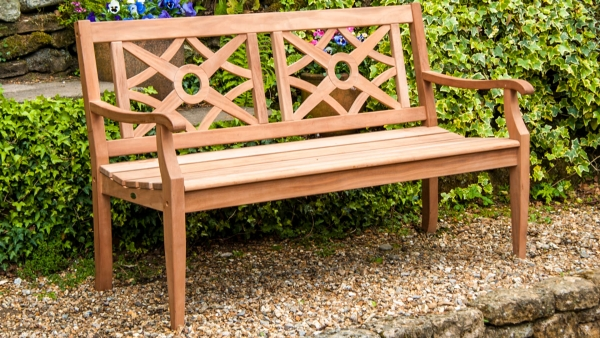 5ft Mahogany Heritage Garden Bench by Alexander Rose