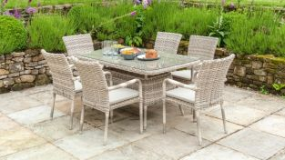 Kool Casual Rattan Dining Table with Glass Top