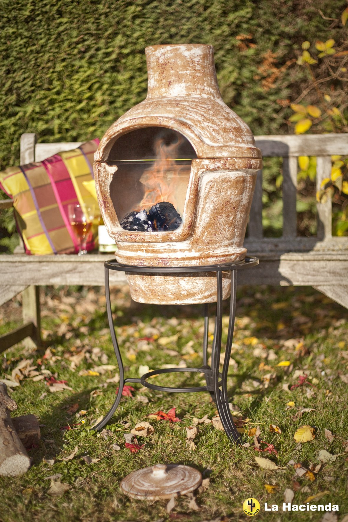Clay Pizza Oven In Terracotta With Pizza Stone And Stand 163