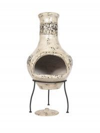 86cm Clay Fresco Medium Chimenea by La Hacienda