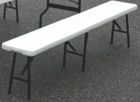 6FT Folding Banqueting Backless Bench