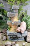 Pig On Stone Water Feature