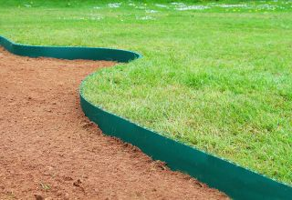 5m Easy Lawn Edging in Green - H14cm - Smartedge