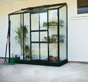 Halls Lean-To 6ft x 2ft Aluminium Frame Greenhouse