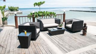 Alexander Rose Ocean Rattan Lounge Chair