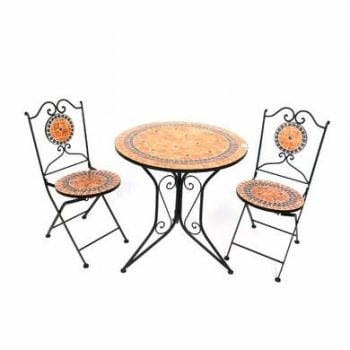 Terracotta Tile Mosaic Garden Bistro Set of 3