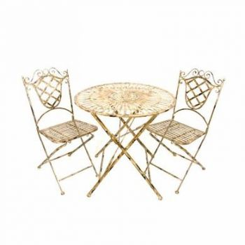 Antique Distressed Garden Bistro Set