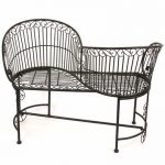 Dark Bronze Iron Rectory Garden Loveseats