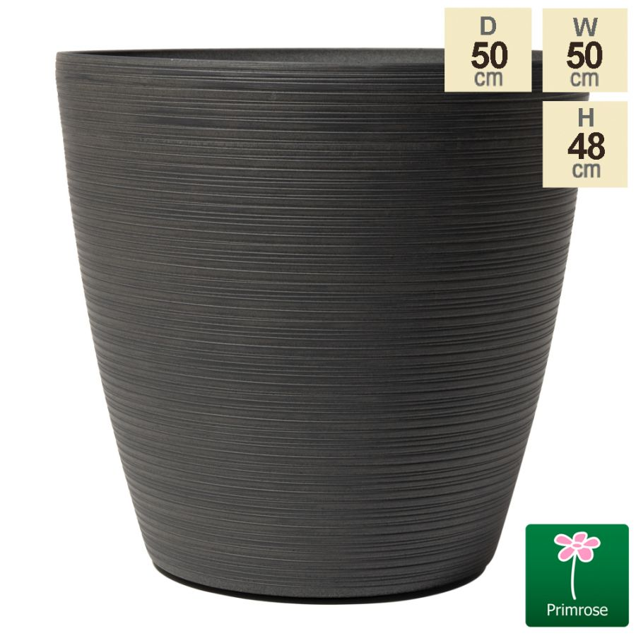 50cm Cone Patterned Eclipse Grey Planter