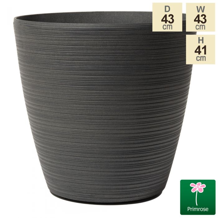 43cm Cone Patterned Eclipse Grey Planter