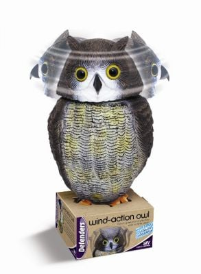 Wind-Action Owl Decoy - Pigeon Scarer