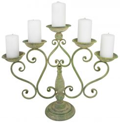 Outdoor Antique Cream Candle Holder - 25cm