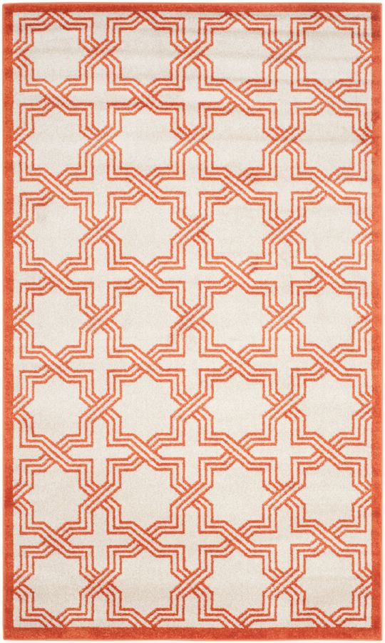 Amherst Textured Outdoor Area Rug Orange (121 X 182 cm)