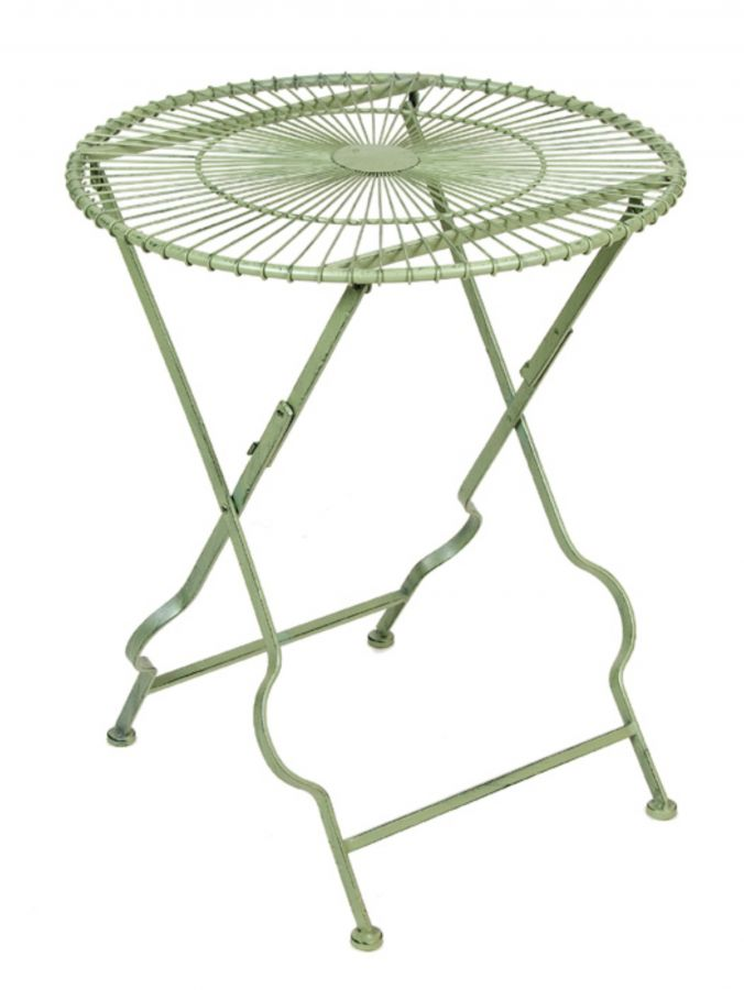 Pale Green Folding Table