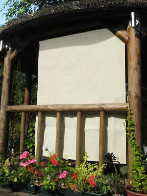 1.6m Rectangle Ivory Side Shade for a Wooden Structure