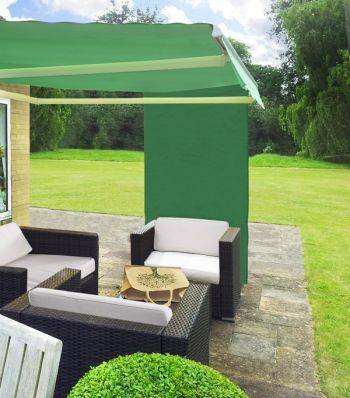 1.6m Rectangle Green Side Shade for Awning