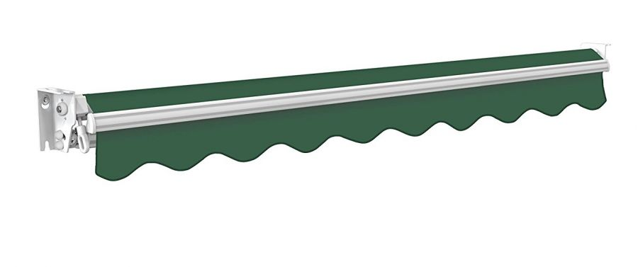 2m Manual Plain Green Awning (No Torsion Bar) - Kensington