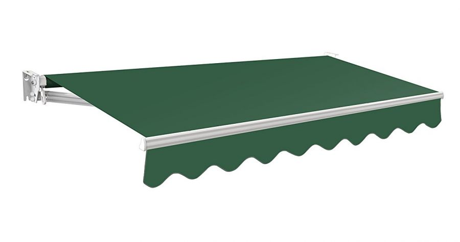 3.5m Manual Plain Green Awning (No Torsion Bar) - Kensington