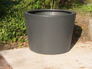150cm Acer Fibreglass Pot In Black By Adezz