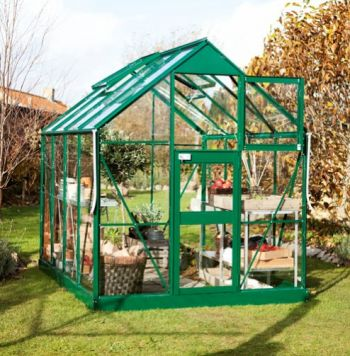 Eden Acorn Aluminium Frame Greenhouse 6ft x 10ft Green