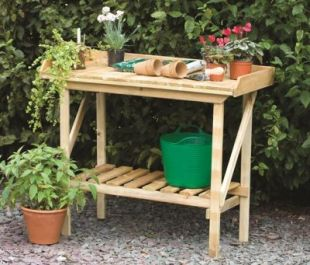 W1.08m (3Ft 6in) Wooden Potting Bench by Forest Garden®