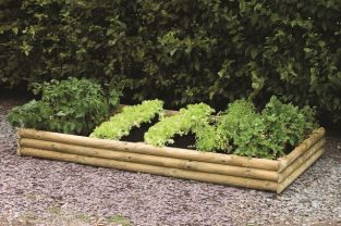 420 Litres - Rectangle Raised Bed Builder Pack - 200cm x 100cm (H21cm)
