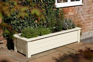 150cm Timber Bamburgh Herb Trough Planter