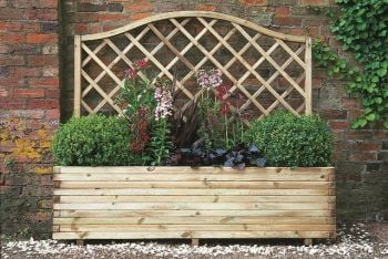 1.8m Wooden Venice Rectangular Planter