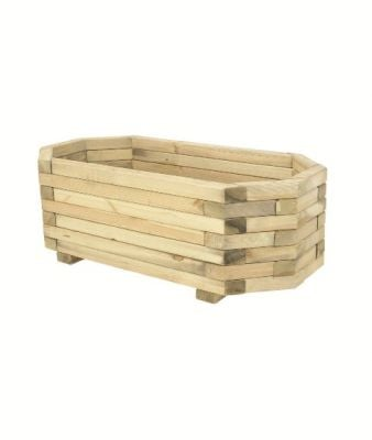 1m Timber Wood Richmond Octagonal Planter