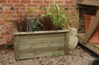 L100cm Deep Wooden Bamburgh Rectangular Planter