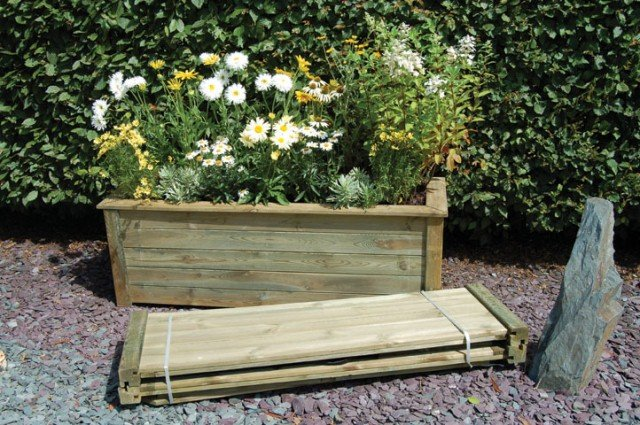150cm Timber Large Bamburgh Rectangular Planter