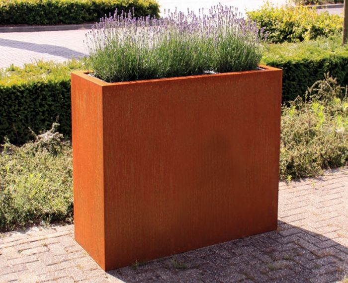 200cm Andes Corten Steel Trough With Feet By Adezz
