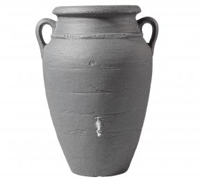 250 Litre Antique Amphora Water Butt with Planter in Dark Granite