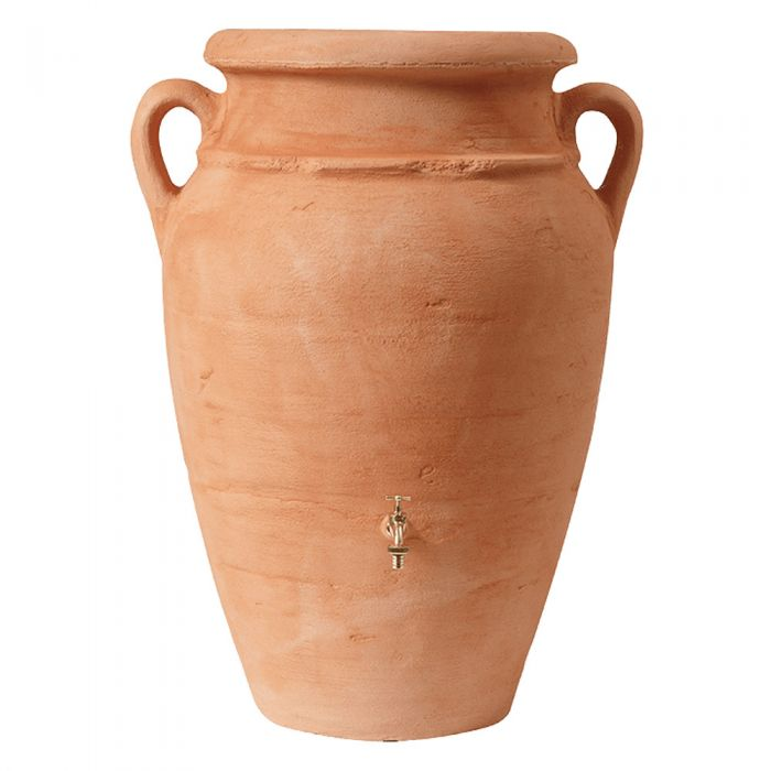 600 Litre Antique Amphora Water Butt with Planter in Terracotta
