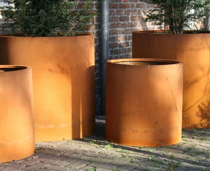 120x60cm Atlas Corten Steel tall Planter