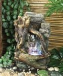 Waterfall Water Feature With Light