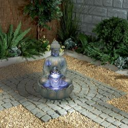 Buddha Water Feature With Light