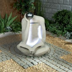 Reading Figure Water Feature With Lights