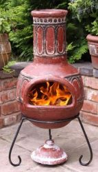 Basilica Clay Chimenea (Red)
