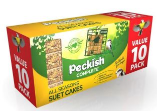 Peckish Complete Suet Cake for Wild Birds - Pack of 10