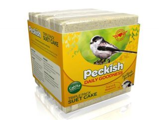Peckish Daily Goodness Pack of 3 Suet Cakes for Wild Birds - 300g